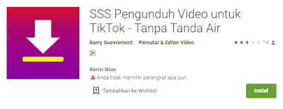 SSS Pengunduh Video untuk Tiktok Tanpa Tanda Air