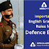 Important English Grammar rules for Defence Exams