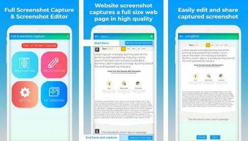 full screenshot capture android apk
