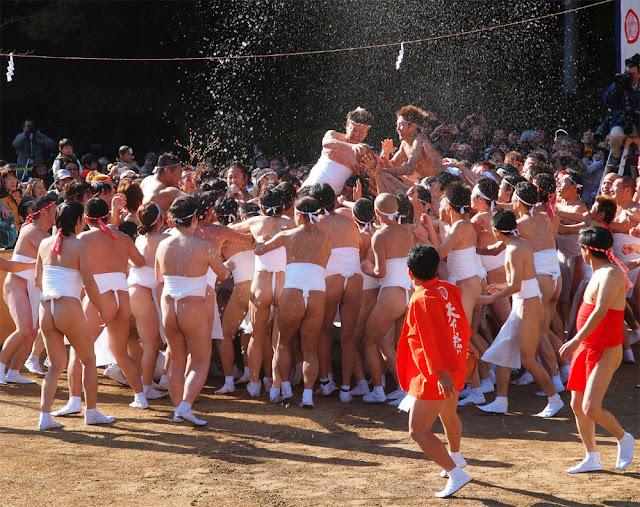 Tenka-sai (Naked Festival for peace and prosperity), Toyota City, Aichi Pref.