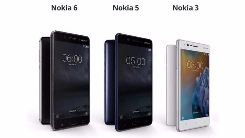 Nokia 3, Nokia 5 and Nokia 6 Launched in India
