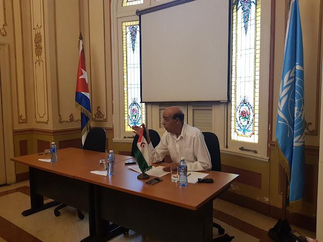 محاضرة عن كفاح الشعب الصحراوي بالجمعية الكوبية بالأمم المتحدة