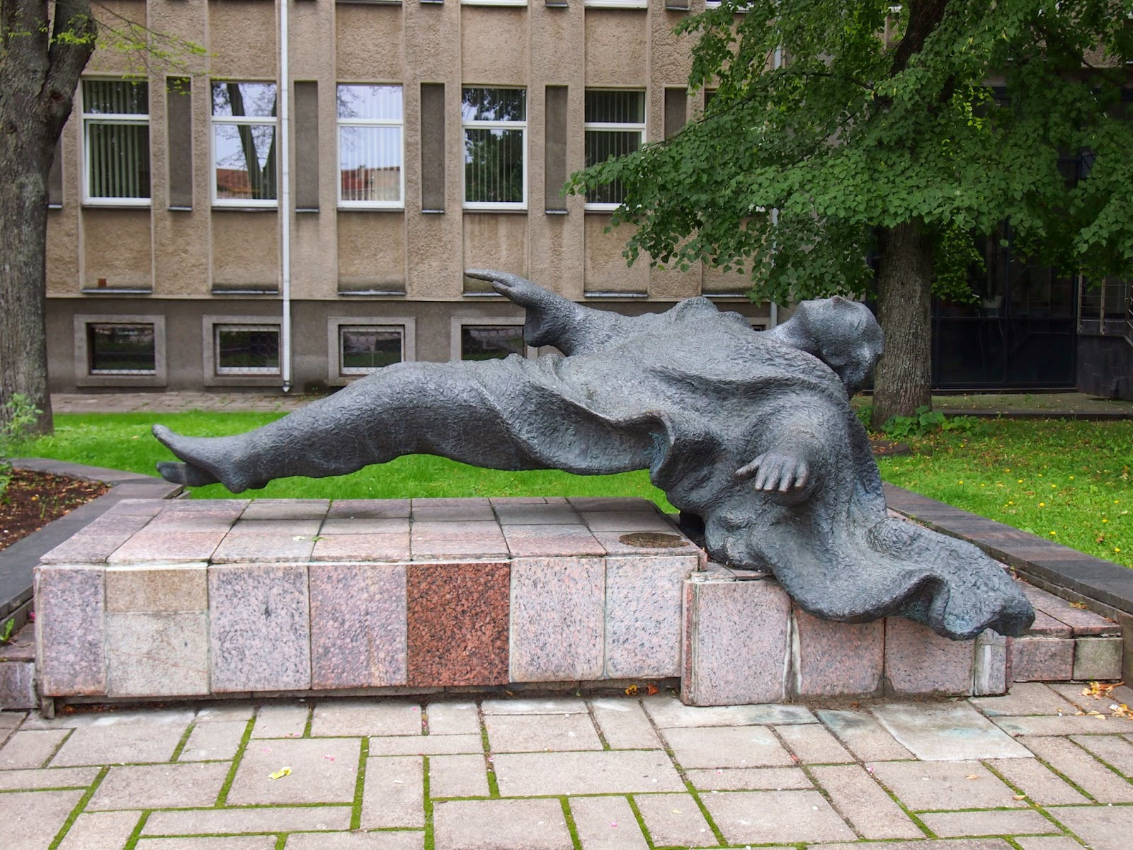 A statue to commemorate Roma Kalanta who died from self-immolation during a protest in Kaunas