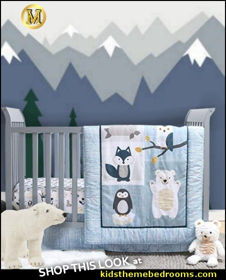 arctic baby nursery Arctic Baby Crib Bedding arctic animals penguin nursery polar bear nursery