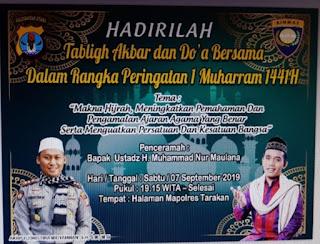 Hadirilah Tabligh Akbar dan Doa Bersama Dalam Rangka Peringatan 1 Muharram 1441H di Mapolres Tarakan - Kajian Tarakan