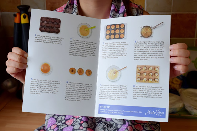 Bakedin baking club recipe sheet showing both written instructions and images.