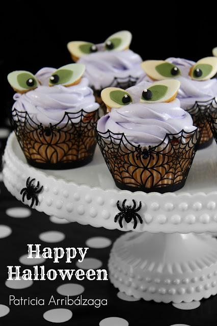 Cupcakes de halloween del libro Fiestas dulces de Patricia Arribálzaga