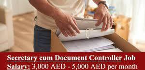 Documents Controller / Secretary Job in Construction Company Dubai