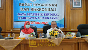 Infokom Muarojambi Gelar Rapat Koordinasi dan Sinkronisasi Data Statistik Sektoral Kabupaten Muarojambi