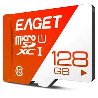 MicroSD 128GB EAGET T1 UHS de Alta Velocidade