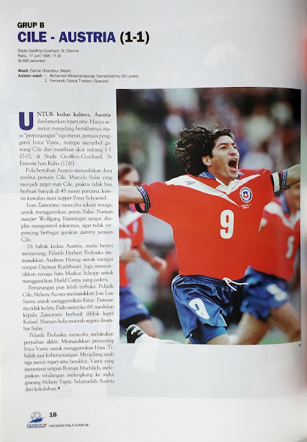 PIALA DUNIA 1998 GRUP B CILE VS AUSTRIA (1-1)