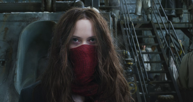 Hester Shaw with scarf from Mortal Engines