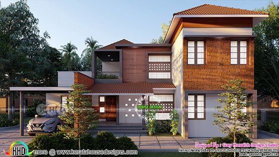 Contemporary House Design 2369 Sq.Ft