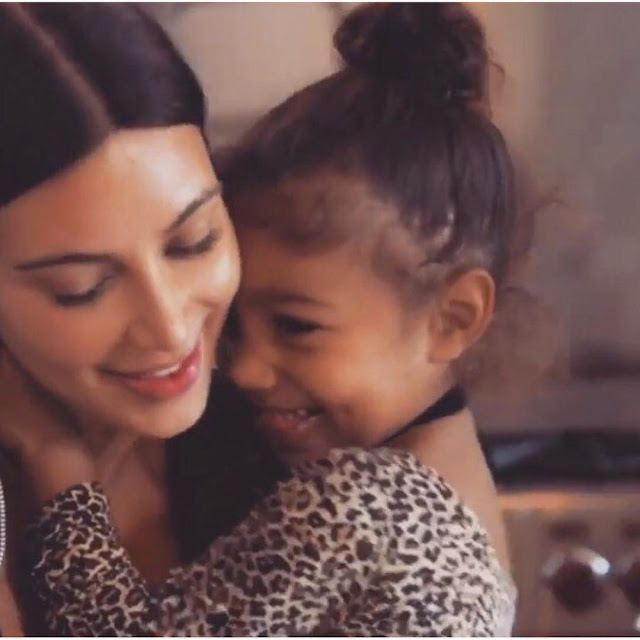 Kim-Kardashian-with-her-cute-baby