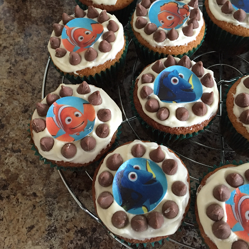 Gluten Free Finding Nemo Choc Chip Cupcakes