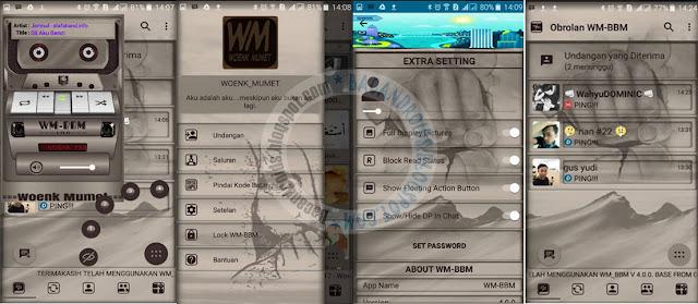 BBM mod Manual Punch Theme v3.3.0.16 Apk terbaru