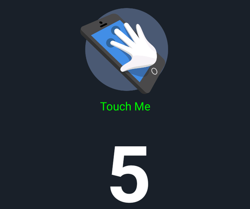 There's 5 points of touch