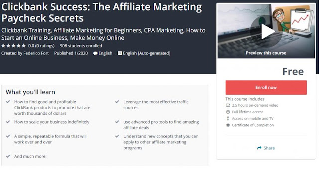 [100% Free] Clickbank Success: The Affiliate Marketing Paycheck Secrets