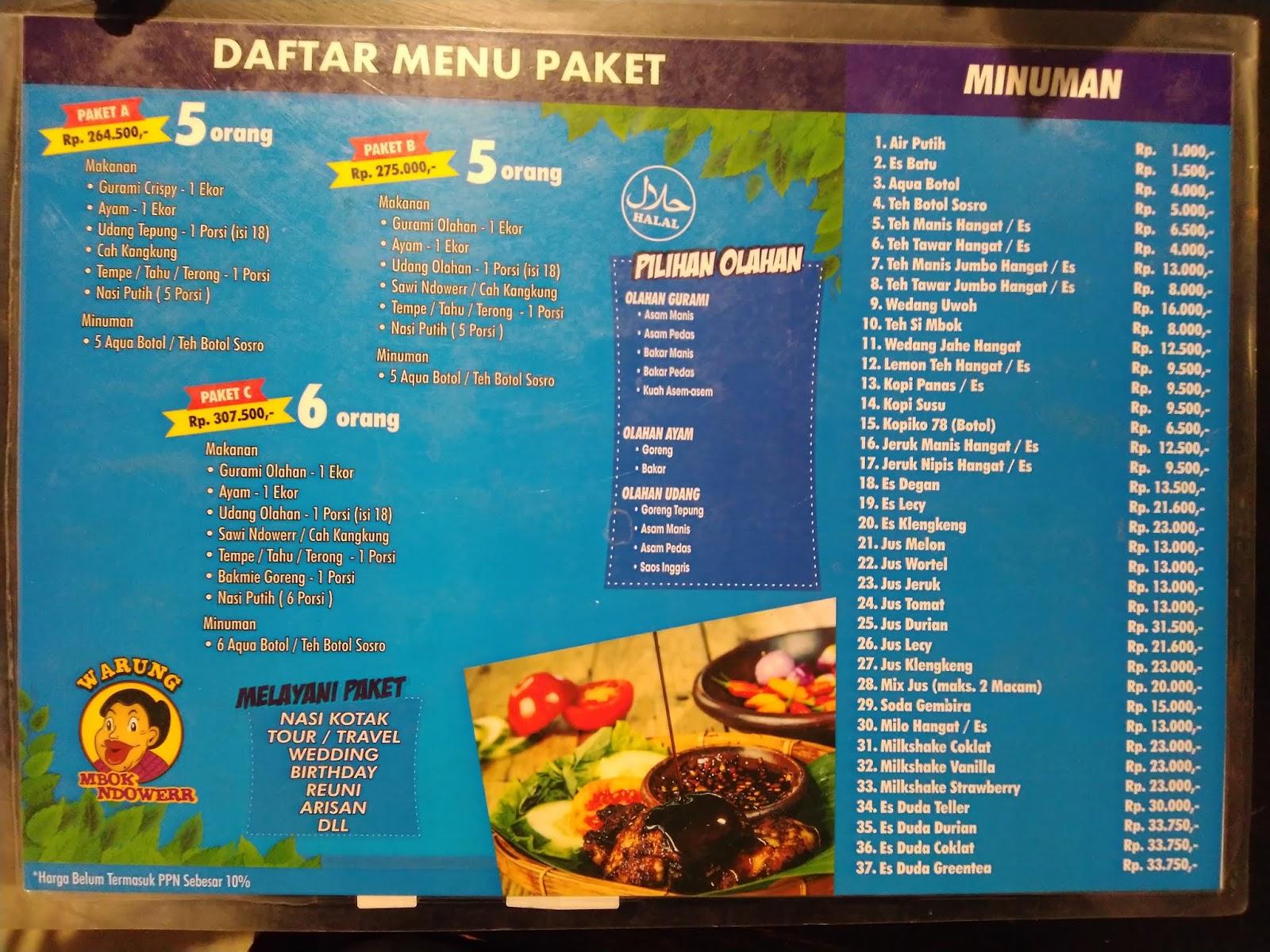 Pengalaman Makan Di Mbok Ndowerr Karangploso Kabupaten Malang