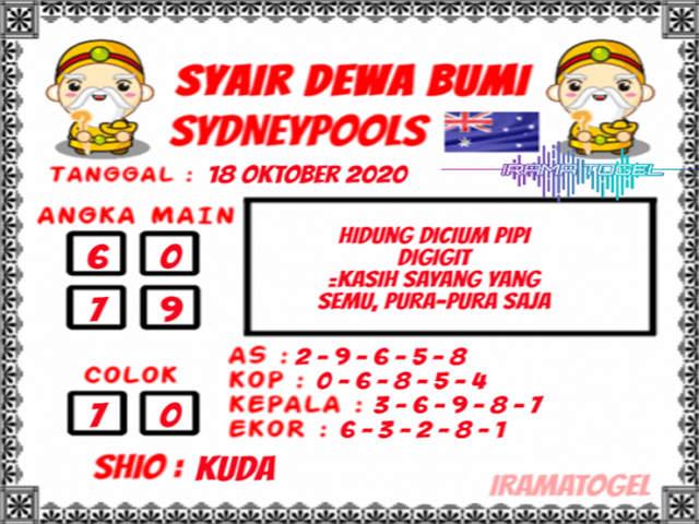 Kode syair Sydney Minggu 18 Oktober 2020 146