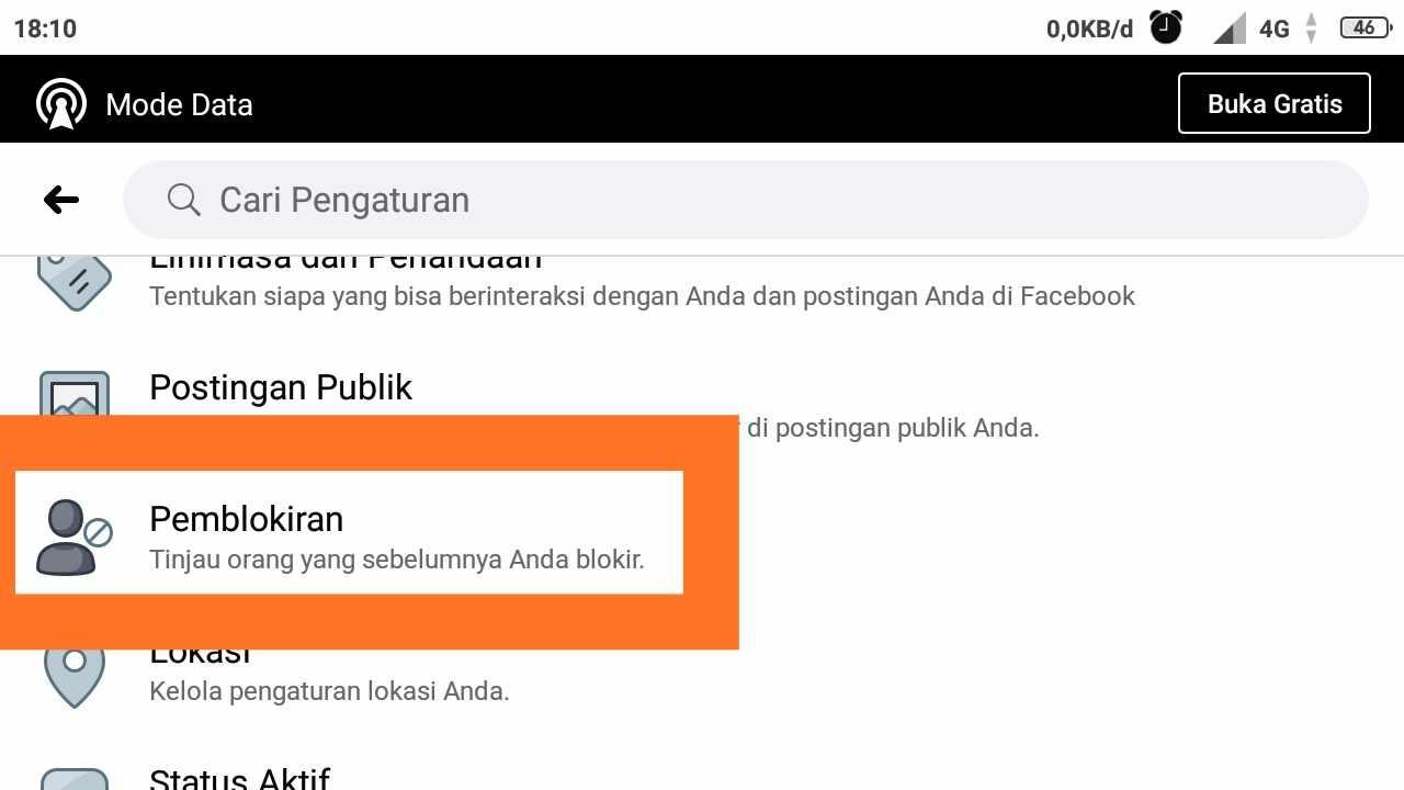 cara membuka blokiran facebook dari teman