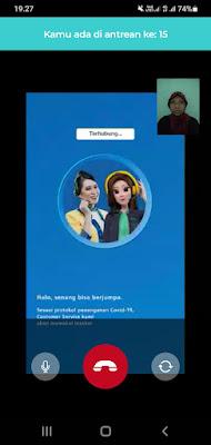 menunggu video call verifikasi aplikasi blu by bca digital