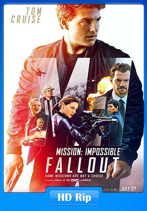 Mission Impossible Fallout 2018 720p HDRip Hindi Tamil Telugu Eng x264 Poster
