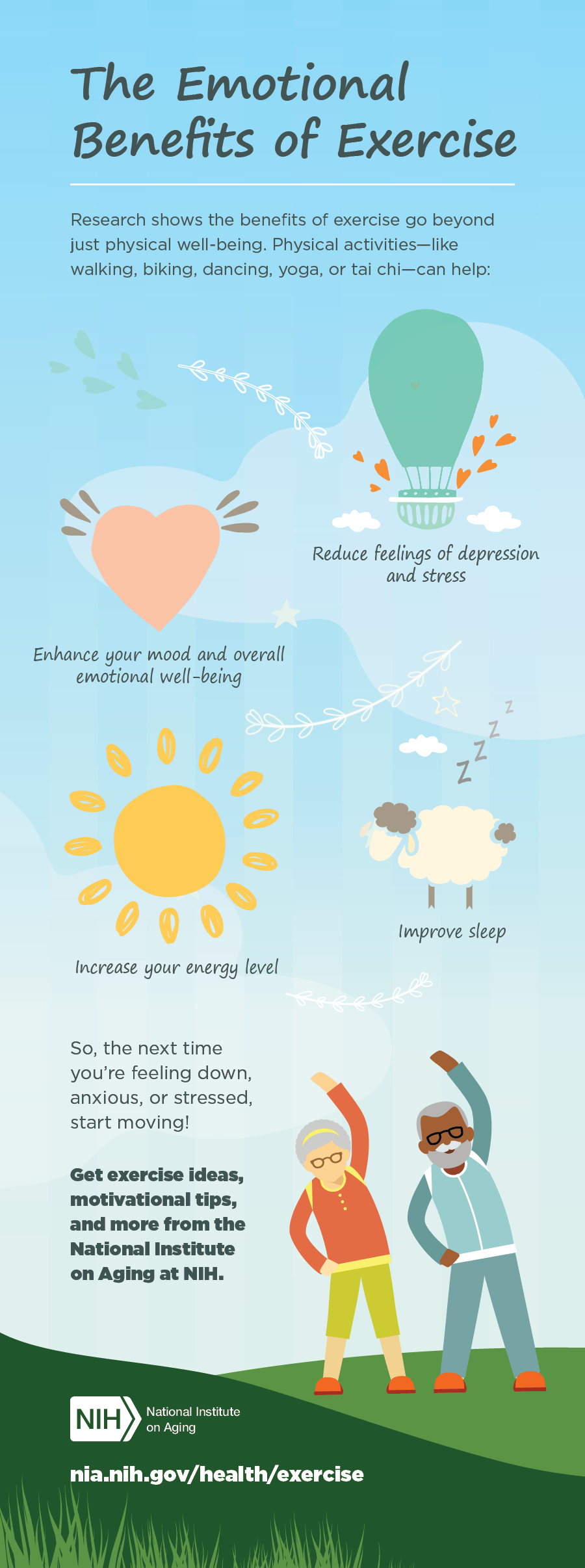 The Emotional Benefits of Exercise #infographic