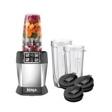 Nutri Ninja Auto iQ BL482, with 3 multi-serve cups with sip & seal lids, image, review features & specifications