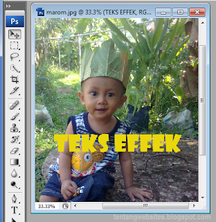 cara membuat background teks effek di photoshop