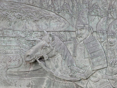 彫刻:梶原一族の勇士
