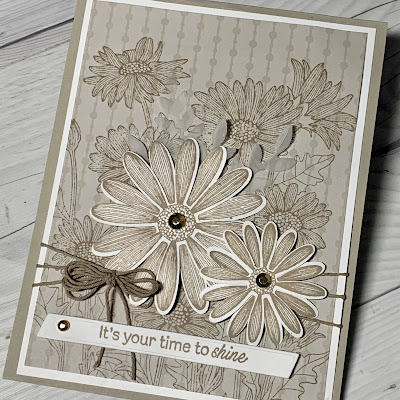 Daisies greeting card using Stampin' Up! Daisy Garden Stamp Set
