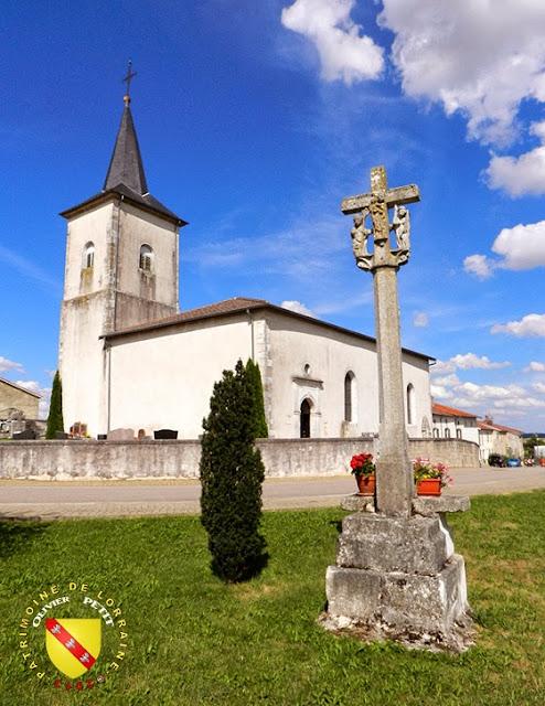 DOMMARTIN-SUR-VRAINE (88) - La croix-calvaire (1611) et l'église