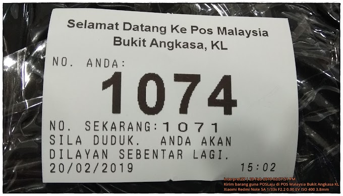 POSLaju di Pejabat POS Malaysia Bukit Angkasa