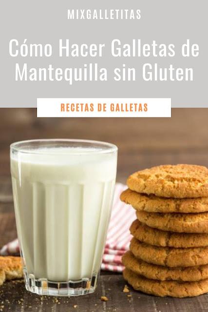 Cómo hacer galletas de mantequilla sin gluten