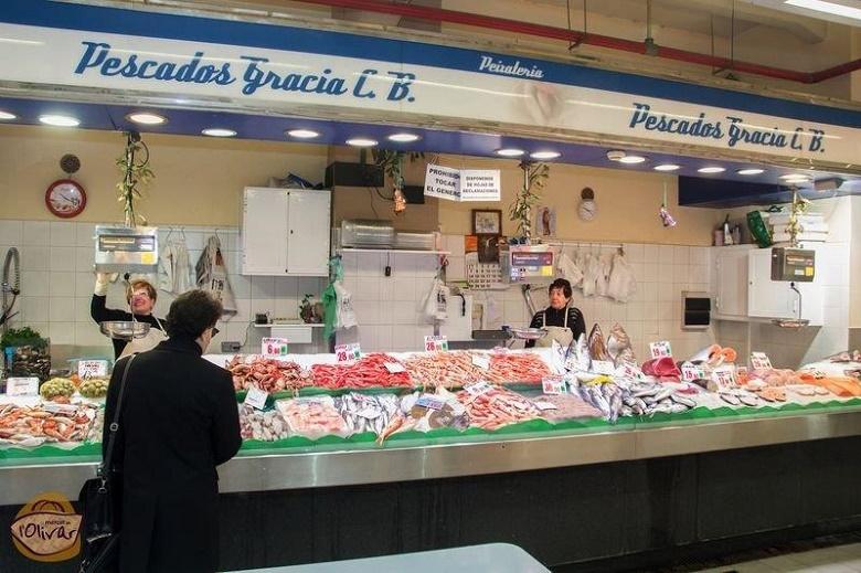 Pescados Gracia, puestos 4BC-5ABC, Mercado del Olivar