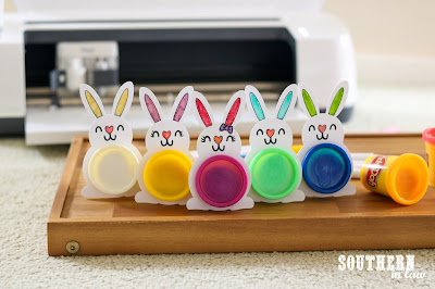 No Chocolate Easter Gifts with the Cricut Maker - Free SVG Files for Easter - PlayDoh Bunnies Classroom Gifts WM