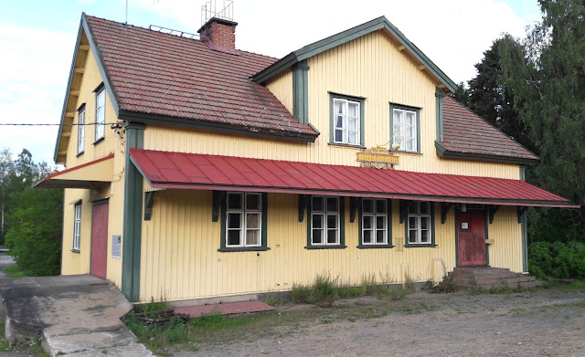Railwaystation in Utajärvi Finland