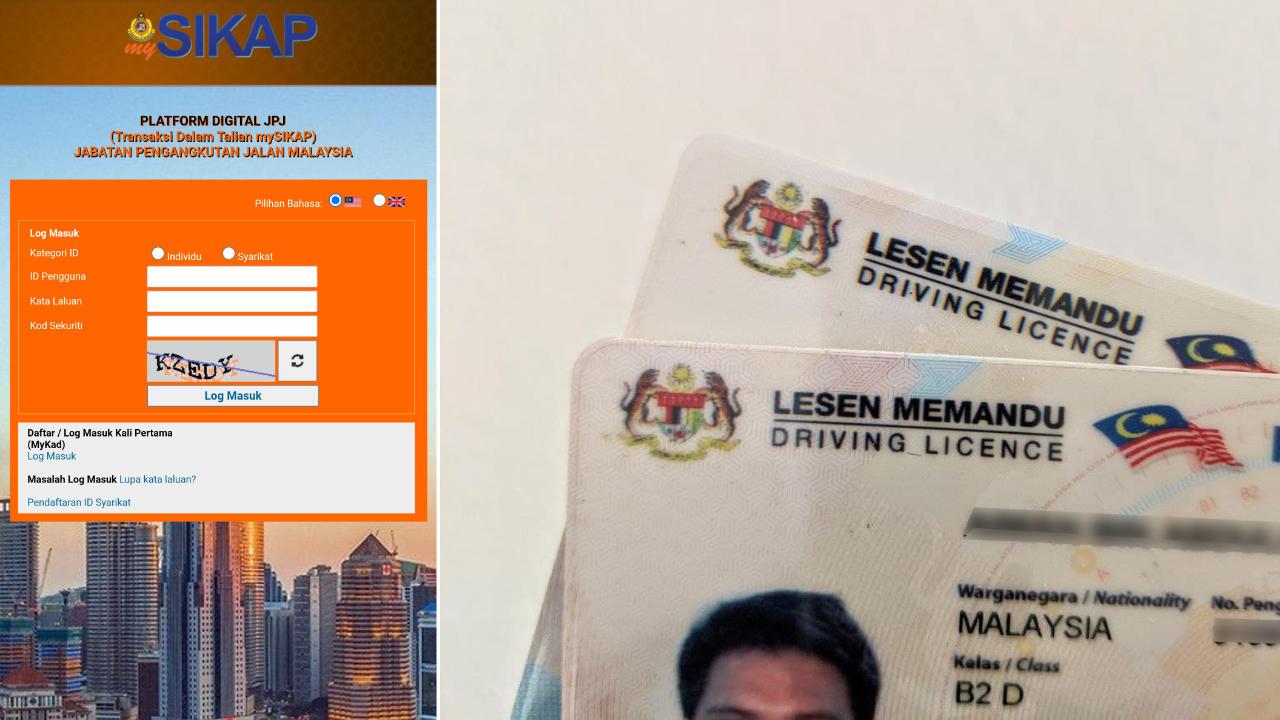 Cara perbaharui (renew) lesen memandu secara online menggunakan portal mySIKAP JPJ