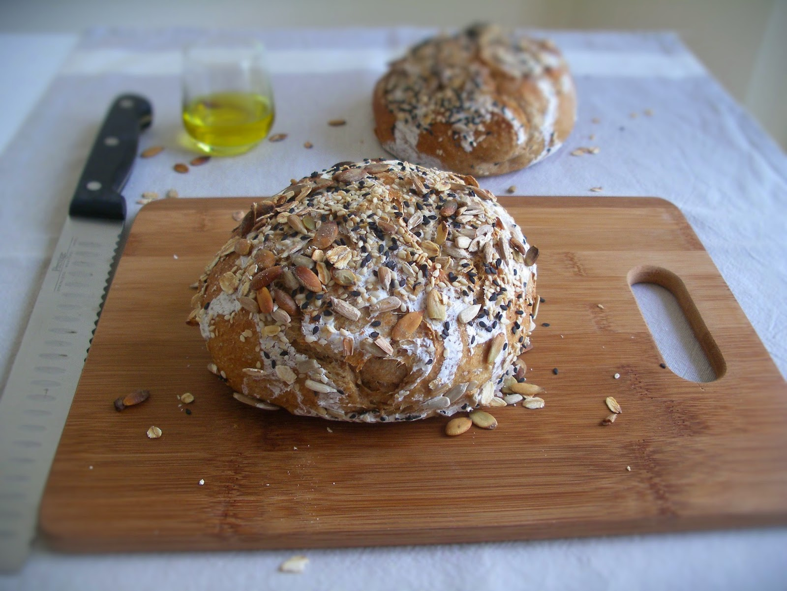 Wholemeal no-knead bread
