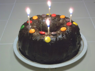 cake with four candles