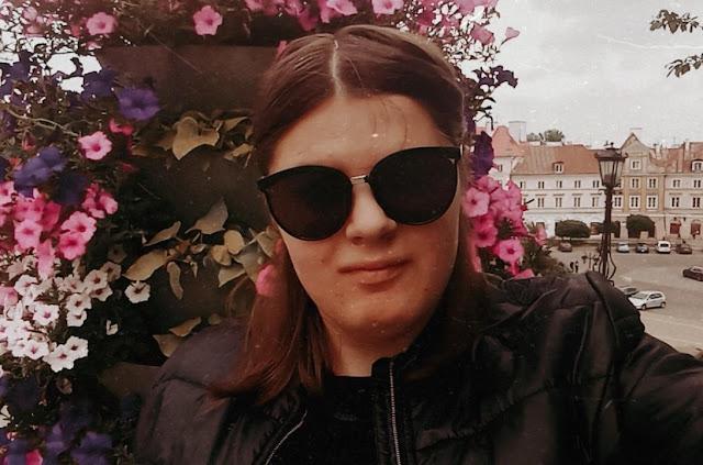 retro, selfie, Lublin, kwietnik, maj