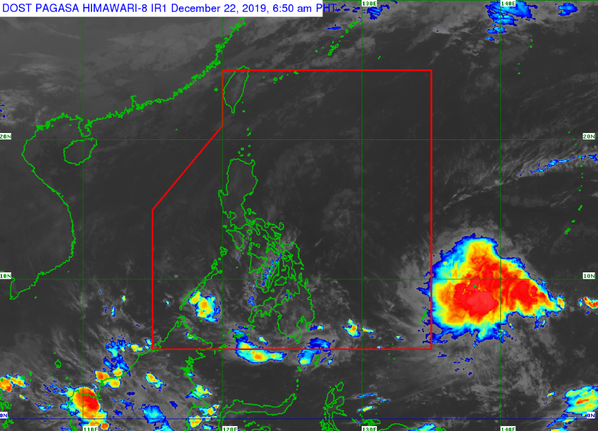 Satellite image of Tropical Depression 'Ursula'