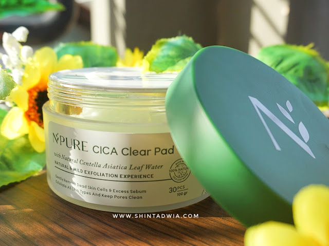 review npure cica clear pad