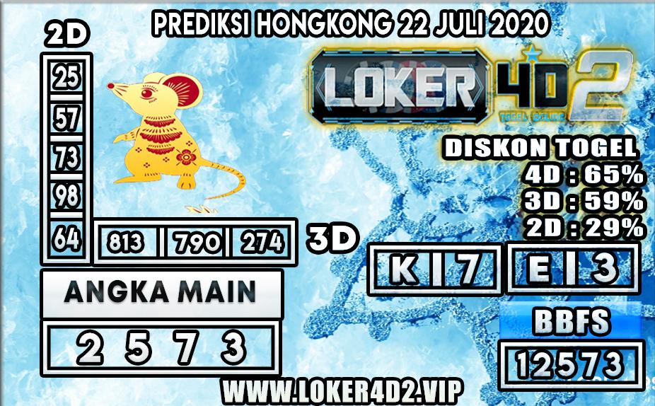 PREDIKSI TOGEL LOKER4D2 HONGKONG 22 JULI 2020