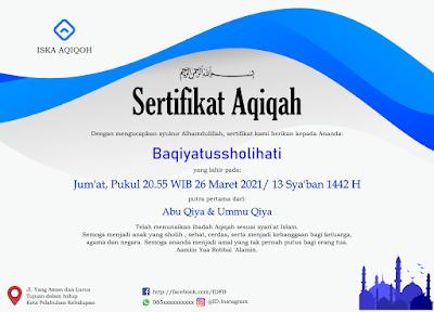 Contoh sertifikat aqiqoh by karyafikri.blogspot.com