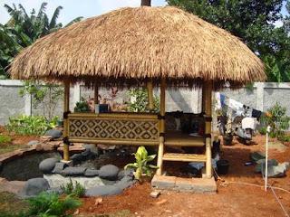 jual saung bambu tukang taman beji