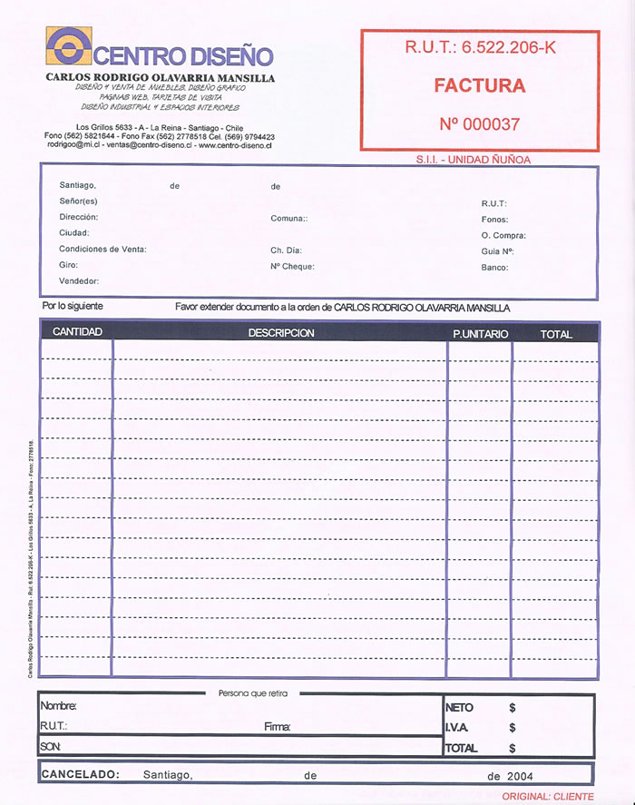 FACTURA+DE+VENTAjpg (700×887) La Factura Pinterest - formato de factura de venta