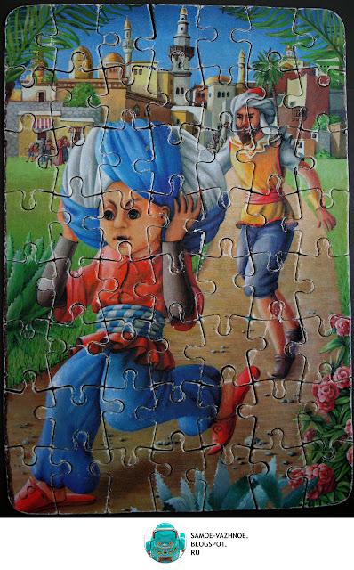 Маленький Мук пазл СССР, ГДР мозаика, игра. Маленький Мук бежит, скороход.