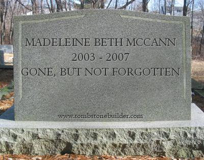 PeterMac's FREE e-book: What really happened to Madeleine McCann? Tombstone